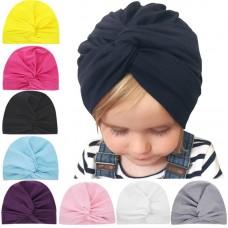 Baby Boys girls Turban Hat Toddler India Hat Kids Beanie Soft Twist top Knot Head wrap cap Bohemian style Bowknot Warm H130S