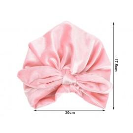 Baby Cap Newborn Toddler Kids Velvet Turban Beanie Hat Head wrap Autumn Winter Boy Girl Headwear Children's Soft Hat H139S