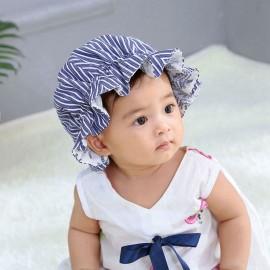 Baby Girl Mop Cap Vintage Sitter Bonnet Sun Hat Bath Hat Prop Brim Sunhat Newborn Shower Gift Summer Baby Accessory H208S