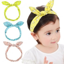 Baby Girl's Headwraps Top Knot Headband Children Infants Ears Bow Hairband Turban Baby Hair Accessories HB032S