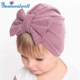 Baby turban hospital hat baby bow knot hat Infant head band Baby girls Winter warm beanies Cotton Turban head wrap H153S