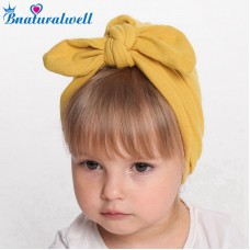 Baby turban look hat Newborn Knot bow headwrap Winter warm cap Cotton beanies Infant Turban head wrap Messy bow headband H152S
