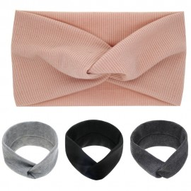 Bendable Twist top Knot Headband Baby girls Turban Infant Knot Headband Top Knotted Head wraps Elastic Twist Hairband HB196S