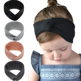 Bendable Twist top Knot Headband Baby girls Turban Infant Knot Headband Top Knotted Head wraps Elastic Twist Hairband HB196S