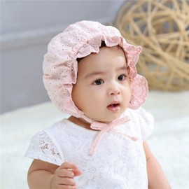 Bnaturalwell Baby Cotton Bonnet Toddler Girls Lovely Beanie Infant Pink Caps Newborn Granny Hat Milk Maid Cap Photo Props H206S