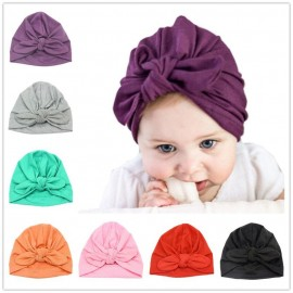 Bnaturalwell Baby Cotton Soft Turban Hat Toddler Knot Girl Hat Infant Rabbit Ears Beanie Bohemian Kids Cap For 1-2 Years H038S