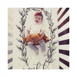 Bnaturalwell Baby First Year Milestone Age Blanket Baby Monthly Blanket Personalized Girl Growth Blanket photo prop BC010S