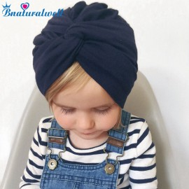 Bnaturalwell Baby Girl Turban hat Children Top Knot Beanie Hair accessories Party accessories Newborn Infant cotton hat H121S