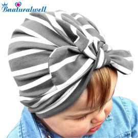 Bnaturalwell Baby Girls turban hat Turban bow hat Newborn Gift Infant Head wrap Hospital bow hat, turbans for tots H134S