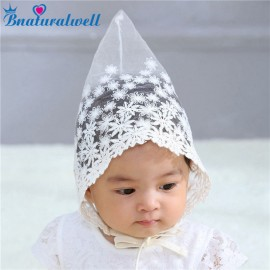 Bnaturalwell Baby Lace Bonnet Toddler Girls Lovely Beanie Infant Floral Cap Newborn Granny Hat Milk Maid Cap Photo Props H205S