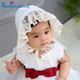 Bnaturalwell Baby vintage lace bonnet Toddler neutral bonnet Infant girls photo prop Girls cotton summer bonnet Sunhat H862S