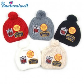 Bnaturalwell Boys Girls Crochet Cap Children Winter Knitted Hat Kids Beanie Baby Line Caps Manual Caps Photography Props H118S