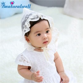Bnaturalwell Hot Toddlers Baby Girls Lace Bonnet Flower Hollow Hat Cap Soft Bonnet Sunhat Hats Newborn Baby Caps Beanie H203S