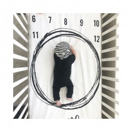Bnaturalwell Milestone Baby Age Blanket Baby Monthly Blanket Personalized Girl Growth Blanket Newborn photo prop BC009S