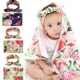Bnaturalwell Newborn Fashion Baby Swaddle Blanket Baby Sleeping Swaddle Muslin Wrap Headband Infant Toddler Photo Prop HB165S