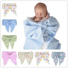 Bnaturalwell Shower Gift Newborn Photo Prop Accessories Baby Shooting Props Fashion Big Bow Tie Receiving Blanket BC018S