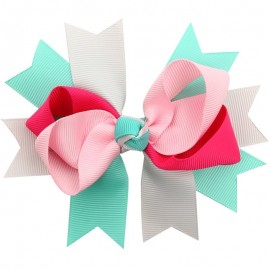 Bowknot Kids Baby Children Hair Clip Bow Pin Barrette Hairpin Ornament Accessories For Girls Baby Hair Accessories BB032S