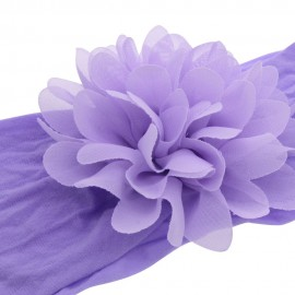 Chiffon Flower nylon headband ONE SIZE fits ALL Baby headbands Nylon Headbands wide nylon head wraps Newborn shower gift HB264S
