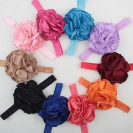 Kids Hair Accessories Fashion Floral Baby Girl Headbands 20 Colors big flower Hairbands Head Wraps 10pcs HB157
