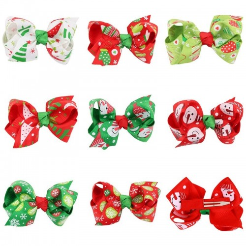 Christmas Hair Bows For Toddlers.Naturalwell 8pcs Set Baby Girls Hair Bows Hairpins Toddler