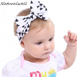 Naturalwell Baby Bow Knot Elasticity Headband Headwraps Infant girls Cotton Big bow hair band Kids Hair Accessories turban HB520