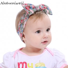 Naturalwell Baby Cotton Headband Girls Knotted Head Wraps Knit Flower Head Wrap Headbands for Children Hair Accessories HB508S