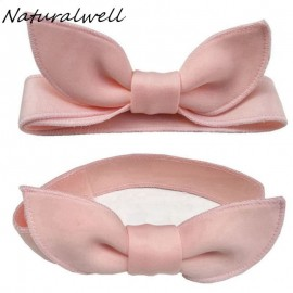 Naturalwell Baby Girls Cute Hair Bows Adjustable Elastic Hairbands Newborn Headbands Hair Accessories Kids Head Band HB180S