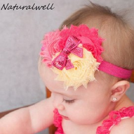 Naturalwell Christmas Gift Baby Flower Headband Girl Children Infant Hairband Newborn Hair Accessories Elasticity HB130A