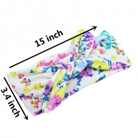 Naturalwell Multicolored Flower Baby girls Wide Headbands Handmade Turban Toddler Girls Boys Hair Accessories 1pc HB009