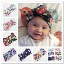 Naturalwell Multicolored Flower Baby girls Wide Headbands Handmade Turban Toddler Girls Boys Hair Accessories 1pc HB009