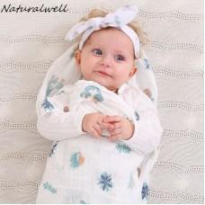 Naturalwell Newborn Swaddled & headwrap set Baby girl boy Blanket Sleeping bag Toddler Comforter Infant Bedding photo prop HB150