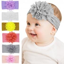 Nylon Headband large flower headbands wide nylon headbands one size fits all Baby girls FLOWER Hair accessories HB267S